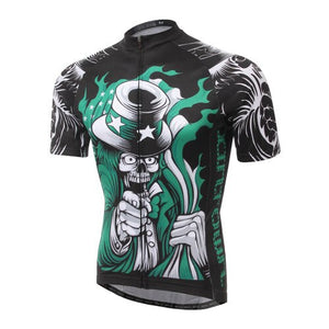 Skull Style Cycling Jersey Cycle Short Sleeve Shirt Top MBT Bike