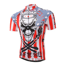 Load image into Gallery viewer, Skull Style Cycling Jersey Cycle Short Sleeve Shirt Top MBT Bike