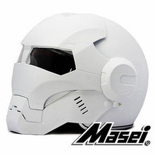 Load image into Gallery viewer, 2016 Dumb Matte white MASEI IRONMAN Iron Man helmet motorcycle helmet retro half helmet open face helmet 610