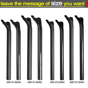 Carbon Fiber MTB Bicycle Parts Set Carbon Flat or Riser Handlebar + Stem