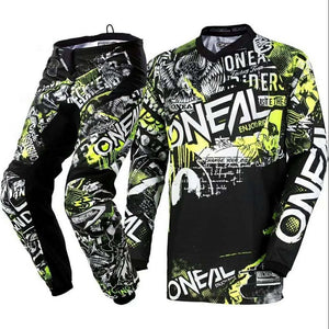 Element Attack Motocross Motorcycle Jersey & Pants Off-road Hi-Viz Kit MX Set - Bike-Moto