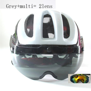Szelyia Mountain Road Bike Helmet 3 lens glasses 2018 version