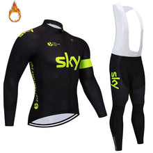 Load image into Gallery viewer, Sky Winter Men's Super Warm Cycling Jersey Set