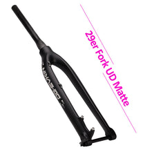 "Load image into Gallery viewer, 29ER Carbon fork UD Glossy  1-1/8""-1-1/2"" Mountain Bicycle 27.5er Fork"