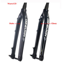 "Load image into Gallery viewer, 29er Carbon Fork Downhill Bicycle MTB Front Fork 1-1/8""-1-1/2"" Carbon Mountain bike Rigid Fork"