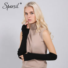Load image into Gallery viewer, Women Winter Arm Warmers Cashmere Fingerless