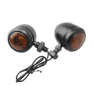 Black Motorcycle Turn Signals Amber Flasher Light For Yamaha V-Star
