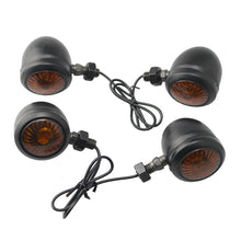 Load image into Gallery viewer, Black Motorcycle Turn Signals Amber Flasher Light For Yamaha V-Star