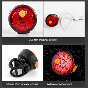 5 Lighting Modes USB Bicycle Light Bike Cycling Lights Waterproof Rechargable