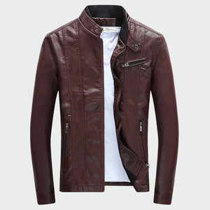 Men's PU Jackets Coats Autumn Winter