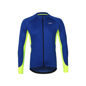 ARSUXEO Men's  Full Zipper Cycling Jersey - Bike-Moto