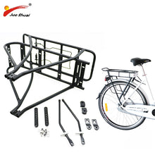Load image into Gallery viewer, Adjustable 26inch 28inch 700C Bike Luggage Rack Black Double Layer e Bike Bicycle Battery Rear Carrier for Bicycle Accessories