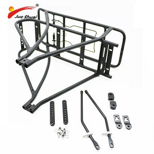 Adjustable 26inch 28inch 700C Bike Luggage Rack Black Double Layer e Bike Bicycle Battery Rear Carrier for Bicycle Accessories