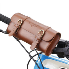 Load image into Gallery viewer, B-soul Retro Bicycle Tail Bag Functional Waist PU Leather Cycling Bag - Bike-Moto