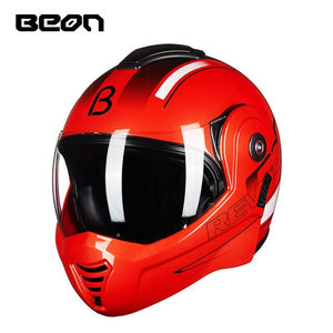 BEON B-702 Flip-up Motorcycle Helmet Modular Open Full Face Helmet Moto