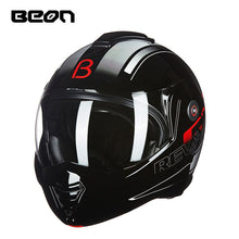 Load image into Gallery viewer, BEON B-702 Flip-up Motorcycle Helmet Modular Open Full Face Helmet Moto