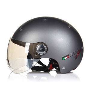 BEON Motorcycle Helmet Chopper 3/4 Open Face Vintage Helmet