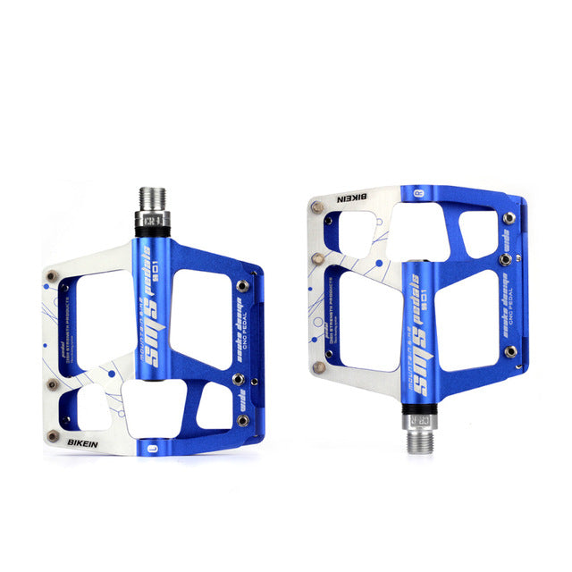 BIKEIN Cycling MTB BMX Flat Pedals 9/16 inch Mountian/Road Bike 3 Bearing