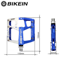 Load image into Gallery viewer, BIKEIN Cycling MTB BMX Flat Pedals 9/16 inch Mountian/Road Bike 3 Bearing