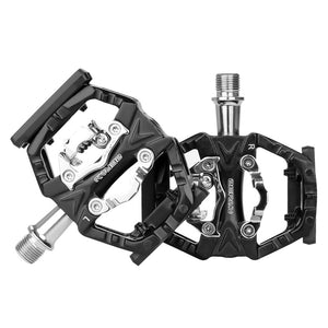 BIKEIN Mountain Bike MTB Clipless Pedals Cycling Road Bicycle Pedals Self-locking