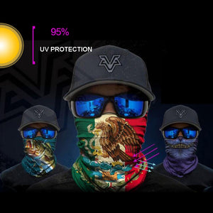 BJMOTO UV Protection Neck Motorcycle/Cycling Ghost Skull Face Mask