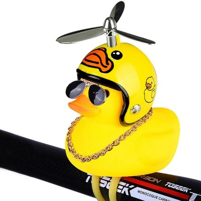 Bicycle Bell Cartoon Yellow Duck Bicycle Helmet Light Electric Car Horn
