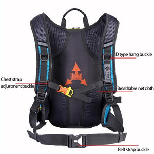 Bicycle Waterproof Sport Backpack 15L Expand Large Capacity
