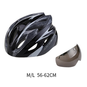Basecamp L5104 Cycling Helmet Lens With Goggles Comfortable For MTB - Bike-Moto