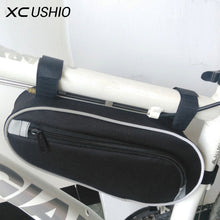 Load image into Gallery viewer, Black Color 11' Wear Resisting Outdoor Cycling Bicycle Triangle Bag Mountain Bike - Bike-Moto
