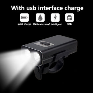 Bright 1000LM Front Bicycle Lamp LED USB Rechargeable Bike Light