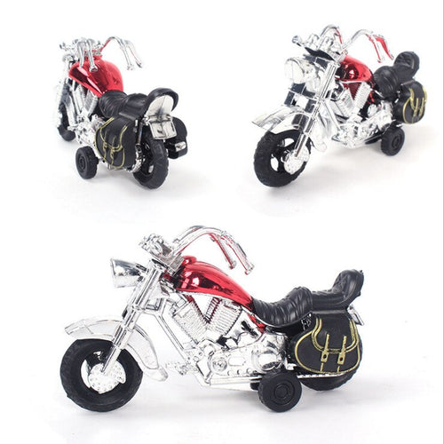Plastic PVC Pull Back Harley Motorcycle Model Toy Gift 1:64