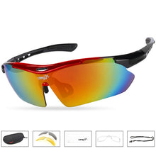 Load image into Gallery viewer, COPOZZ Cycling Glasses 2018 men women Mountain Bike Bicycle Cycling Sunglasses
