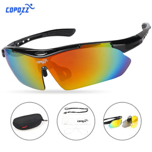 COPOZZ Cycling Glasses 2018 men women Mountain Bike Bicycle Cycling Sunglasses