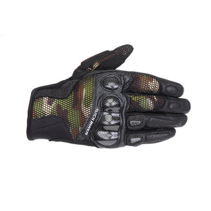 Carbon Fiber Breathable Motorcycle Gloves Camouflage Motocros