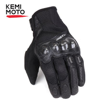 Load image into Gallery viewer, Carbon Fiber Breathable Motorcycle Gloves Camouflage Motocros