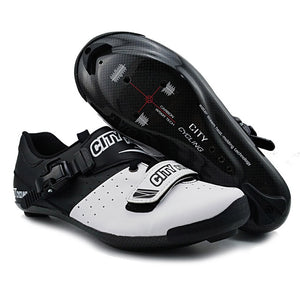 City Cycling Shoes Heat Moldable 3K Carbon Fiber Road Bike Sneaker - Bike-Moto