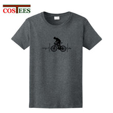 Load image into Gallery viewer, Cool Mountain Biker Electric Heartbeat T Shirt Men