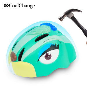 CoolChange Child Cycling Helmet PC + EPS Rabbit Cartoon Bicycle Children Helmets