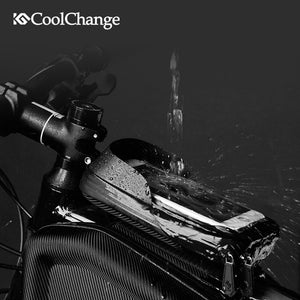 CoolChange Waterproof Bike Bag Frame Front Head Top - Bike-Moto