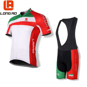 Country Team Sport Bike Ciclismo Set Jersey Cycling Clothing Short LONGAO Italy