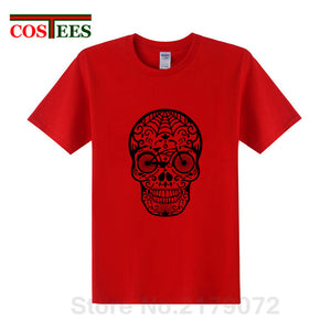 Creative Design Bicycle Skull T shirts men