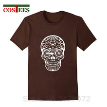 Load image into Gallery viewer, Creative Design Bicycle Skull T shirts men