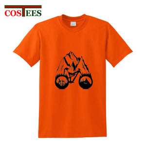 Creative design Landscape painting MTB Enduro T shirt men - Bike-Moto