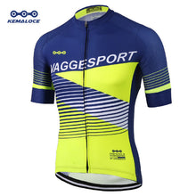 Load image into Gallery viewer, European Latest Full Sublimation Cycling Jersey Breathable Blue Comfortable - Bike-Moto
