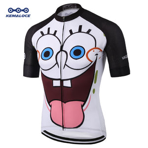 European Latest Full Sublimation Cycling Jersey Breathable Blue Comfortable - Bike-Moto