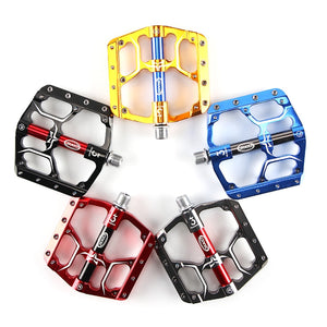 Flat Bike Pedals MTB Road 3 Sealed Bearings Bicycle Pedals