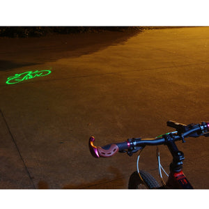 Front Bicycle Headlight Green Projector Bike Light Safety