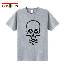 Load image into Gallery viewer, Funny Skull design BMX biker parts T Shirt Men Bicycle Cycling