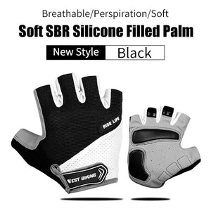 GIYO Anti Slip Gel Pad Bicycle Gloves Gel Pad Short Half Finger Cycling