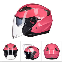 Load image into Gallery viewer, GXT Motorcycle Helmet Open Face Dual Lens Visors Moto Helmet